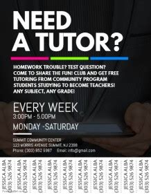 tutoring flyer template 120 customizable design templates for tutor postermywall