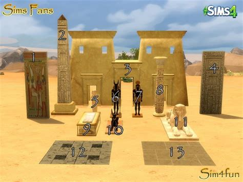 sims fans egyptian stuff  simfun sims  downloads