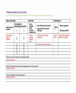 training needs analysis template beneficialholdingsinfo With learner analysis template