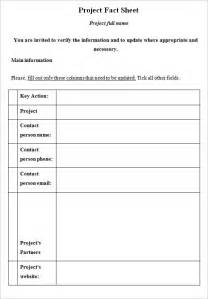 Sheet Template Fact Sheet Template 8 Documents In Pdf Word
