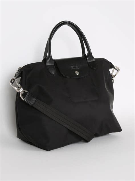 longchamp le pliage neo black  luxury bags