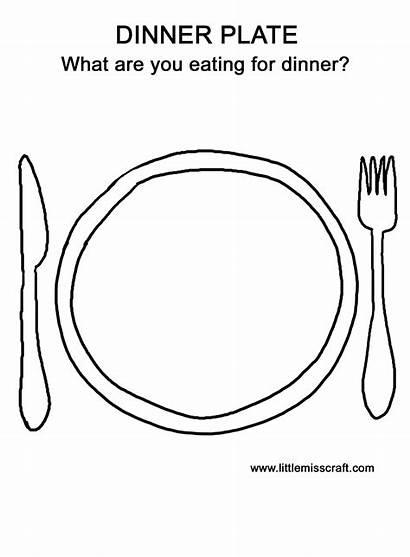 Coloring Dinner Plate Thanksgiving Doodle Turkey Preschool