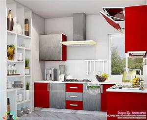 Kitchen interior works at trivandrum kerala home design for Interior design for kitchen in kerala