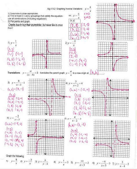 graphing rational functions worksheet 1 horizontal asymptotes answers rational functions worksheet homeschooldressage