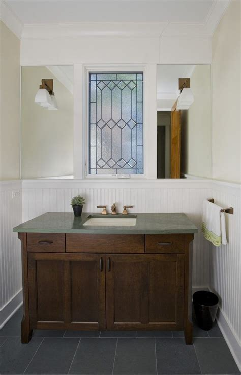 shaker style wainscoting craftsman powder room designing