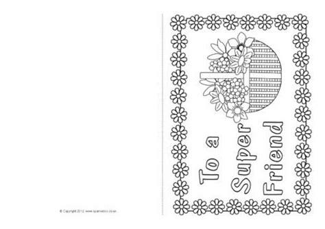 friendship card colouring templates sb sparklebox
