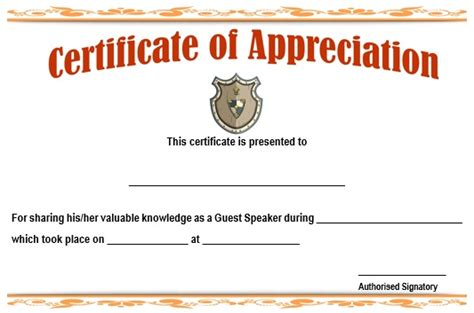 12 genuine sles of certificate of appreciation for