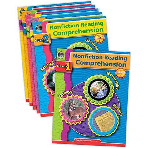 Nonfiction Reading Comprehension Set (6 Books)  Tcr9078  Teacher Created Resources