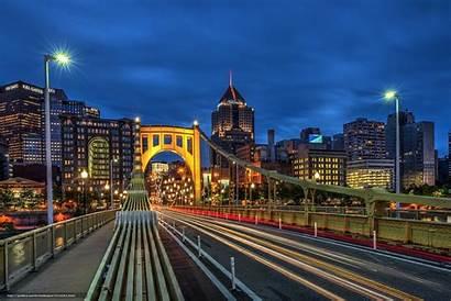 Pittsburgh Wallpapers Skyline Desktop Backgrounds Bridge Night