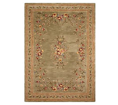 royal palace rugs royal palace floral garland 8 x 11 handmade wool rug qvc