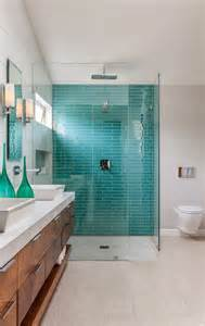 Blue Tile Bathroom Ideas 40 Blue Glass Bathroom Tile Ideas And Pictures