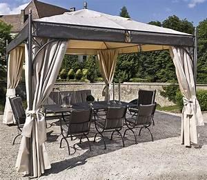 Pavillon 3 5x3 5 : mbm pavillon rosanna elegance 3 5x3 5m eisen art jardin ~ Frokenaadalensverden.com Haus und Dekorationen