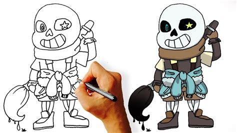 draw ink sans step  step youtube