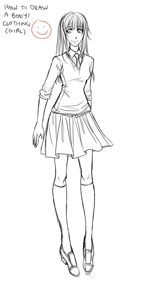 anime tutorial body clothing girl  ember snow