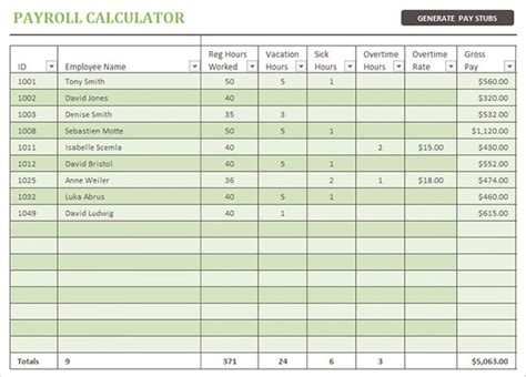 payroll template excel 15 payroll templates pdf word excel free premium templates