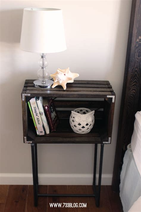 Crate Nightstand Diy by Diy Crate Nightstands Inspiration Made Simple