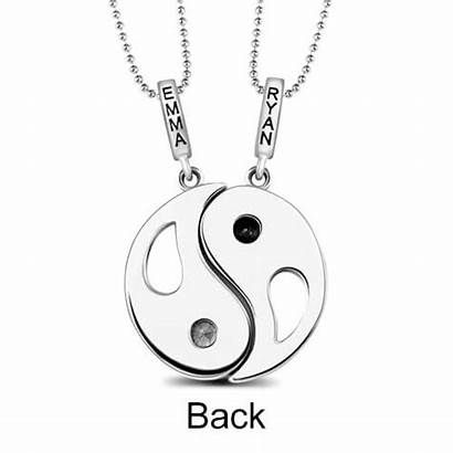 Yang Yin Necklace Pendants Birthstones Couples Pierres