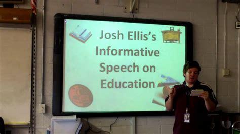 informative speech  education youtube