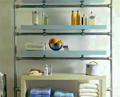floating bathroom shelf   kee klamp  lack