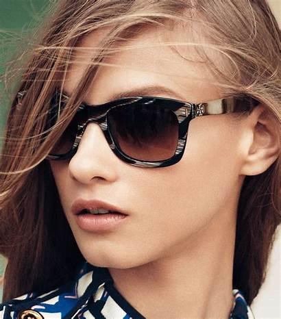 Sunglasses Burch Tory Square Metal Natural Lyst