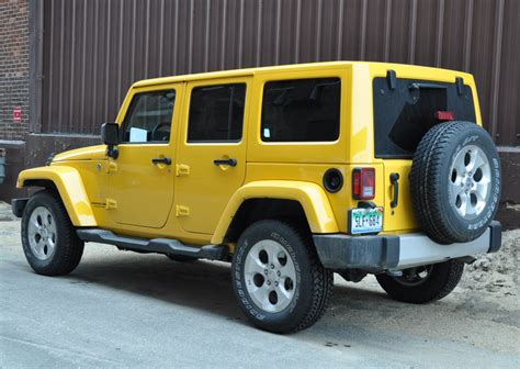 yellow jeep wrangler unlimited capsule review 2015 jeep wrangler unlimited sahara the