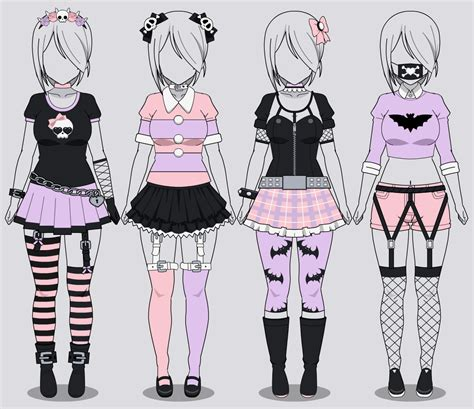 Kisekae Four Pastel Goth Outfits (w/ codes) by RainbowFan256 on ... | Pastel | Pinterest ...