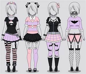 Kisekae Four Pastel Goth Outfits (w/ codes) by RainbowFan256 on ...   Pastel   Pinterest ...