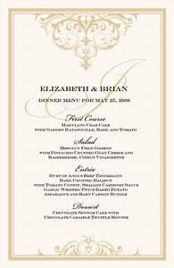 6 fancy menu template procedure template sample With wedding drink menu template free