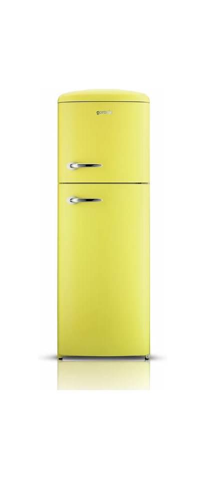 Retro Gorenje Yellow Fridge Freezer Refrigerators Refrigerator