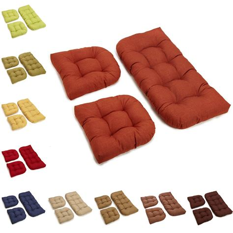 Wicker Settee Cushion Sets by All Weather U Shaped Acrylic Outdoor 3 Settee Bench