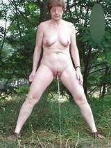 Granny naked outdoors 2