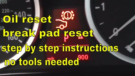bmw  series brake pad reset oil reset  service reset