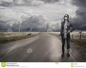 Young Woman Alone Standing Royalty Free Stock Images ...