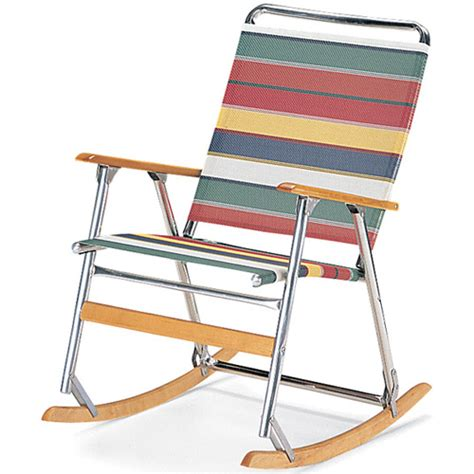 teleweave folding rocking chair lawn chairs