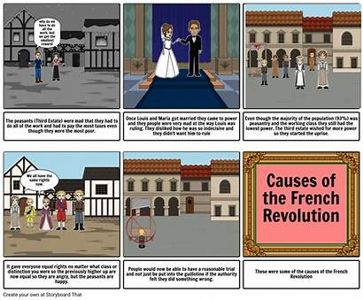 Revolution French Causes Storyboard