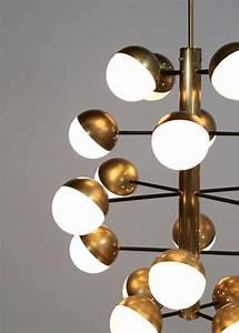 Grand Lustre Moderne : grand lustre moderne 20 boules style stilnovo danke galerie ~ Teatrodelosmanantiales.com Idées de Décoration