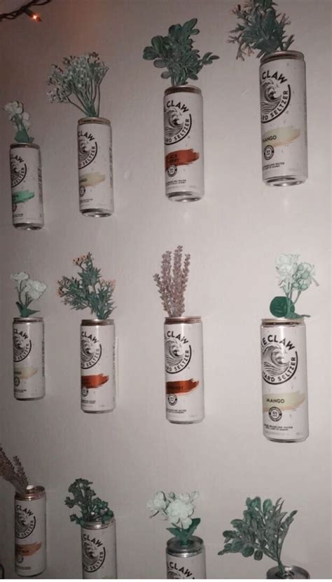 white claw flowers haha   college house decor