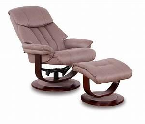 Fauteuil Repose Pied : affinity fauteuil relax avec repose pieds microfibre boa marron cendre ~ Teatrodelosmanantiales.com Idées de Décoration