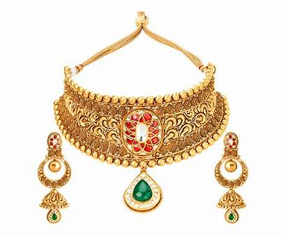 Jewellery Necklace Bridal Tanishq Latest Golden Kundan