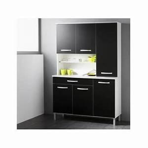 Meuble De Cuisine Noir : meuble de cuisine noir pas cher ~ Teatrodelosmanantiales.com Idées de Décoration