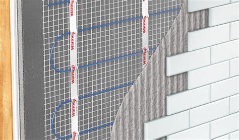 wall heating   bathroom heated walls warmup uk