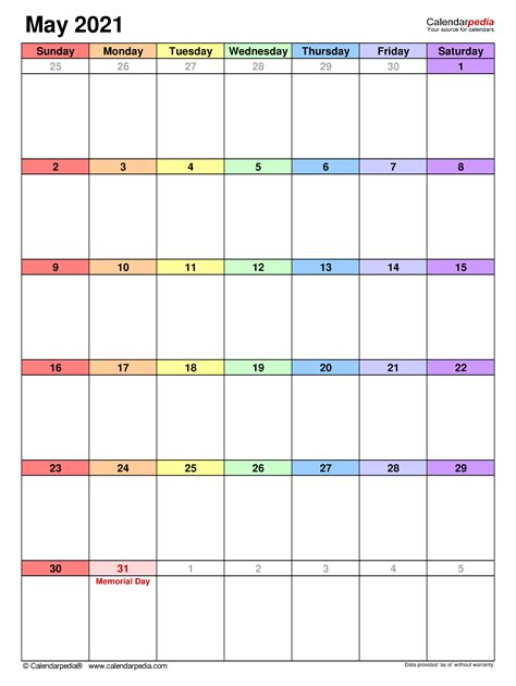 View Large Printable 2021 Calendar By Month  Background