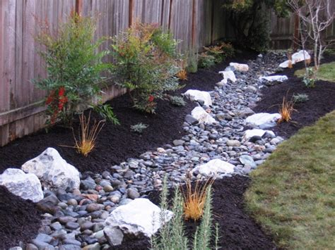 backyard drainage ideas drainage trench becomes a stream northwest botanicals inc