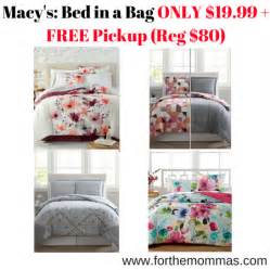 macy s bed in a bag only 19 99 free reg 80