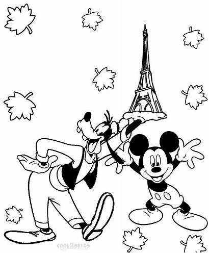 Coloring Goofy Pages Mickey Mouse Cool2bkids Disney