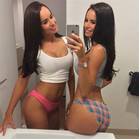 instagram sisters double fun brooker hottest selfie twins selfies laura bikini internet found brunette