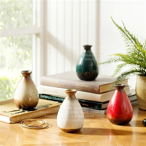 Colorful Decorative Vases by Color Japanese Style Decorative Small Vase Glaze