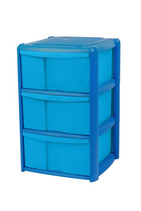 Plastic Drawers by Form Drawer Towers Blue Plastic Drawer Tower Unit