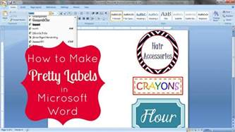 Avery Decorative Labels by How To Make Labels In Word