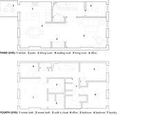 brownstone floorplans images  pinterest home